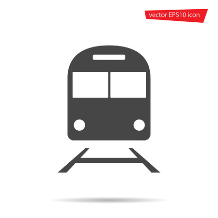 Train icon isolated. Modern flat metro pictogram, business, marketing, internet concept. Trendy Simple vector underground symbol for web site design or button to mobile app. Logo illustration.