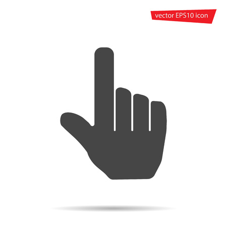Gray Hand touching icon isolated on background. Modern flat pictogram, business, marketing, internet concept. Trendy Simple vector symbol for web site design or button to mobile app Logo illustration