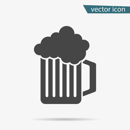 Gray Beer icon isolated on background. Modern flat pictogram, business, marketing, internet concept. Trendy Simple vector symbol for web site design or button to mobile app. Logo illustration.