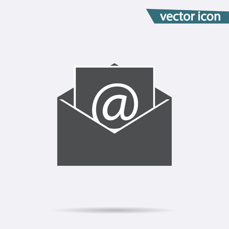 Gray mail icon isolated on background. Modern flat pictogram, business, marketing, internet concept. Trendy Simple vector symbol for web site design or button to mobile app. illustration. 版權商用圖片 - 112374185