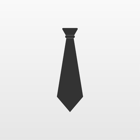 Gray necktie icon isolated on background. Modern flat pictogram, business, marketing, internet concept. Trendy Simple vector symbol for web site design or button to mobile app. Logo illustration.