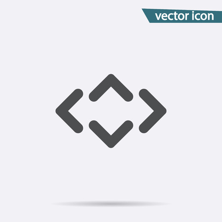 Gray Arrow icon isolated on background. Modern flat pictogram, business, marketing, internet concept. Trendy Simple vector symbol for web site design or button to mobile app. Logo illustration. Stock Vector - 105593660