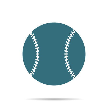Blue Baseball Ball icon isolated on background. Modern simple flat softball sign. Sport, internet concept. Trendy game vector symbol for website design, web button, mobile app. Logo illustration.