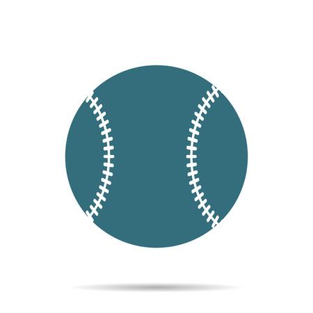 Icono de bola de béisbol azul aislado sobre fondo. Signo de softbol plano simple moderno. Deporte, concepto de internet. Símbolo de vector de juego de moda para diseño de sitios web, botones web, aplicaciones móviles. Ilustración de logotipo. Logos
