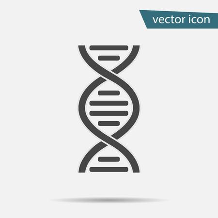DNA icon vector. Modern simple flat life evolution sign isolated. Business, internet concept. Trendy vector biology gene symbol for website design, web. Logo chromosome illustration. Stock Illustratie