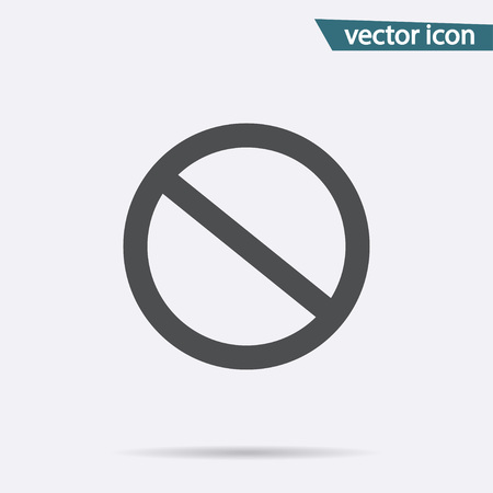 Prohibition icon vector. Flat no symbol isolated on white background. Trendy internet concept. Modern sign for web site button, mobile app, ui design. Logo illustration.