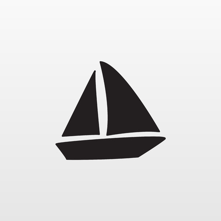 Gray Boat icon isolated on background. Modern flat pictogram, business, marketing, internet concept. Trendy Simple vector symbol for web site design or button to mobile app. Logo illustration.