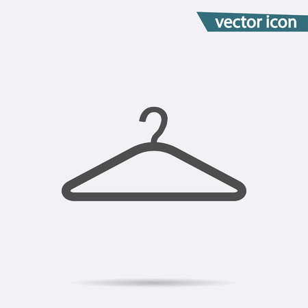 Hanger vector icon. Flat symbol isolated on white background. Trendy internet concept. Modern sign for web site button, mobile app, ui design. Logo illustration.