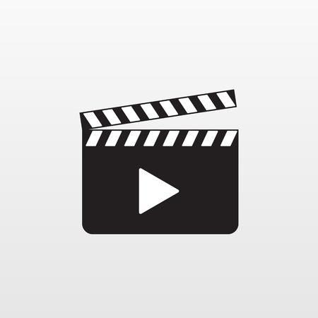 Icono de acción de cámara aislado. Vector de aplauso de película. Pictograma plano moderno, negocios, marketing, concepto de internet. Símbolo de moda simple vector para el diseño de sitios web. Ilustración de logotipo.