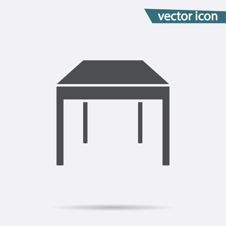 Gray table icon isolated on background. Modern flat pictogram, business, marketing, internet concept. Trendy Simple vector symbol for web site design or button to mobile app. illustration. 向量圖像