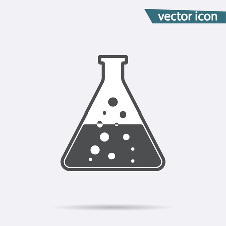 Gray Chemistry icon isolated on background. Modern flat pictogram, business, marketing, internet concept. Trendy Simple vector symbol for web site design or button to mobile app. illustration. 版權商用圖片 - 112374187