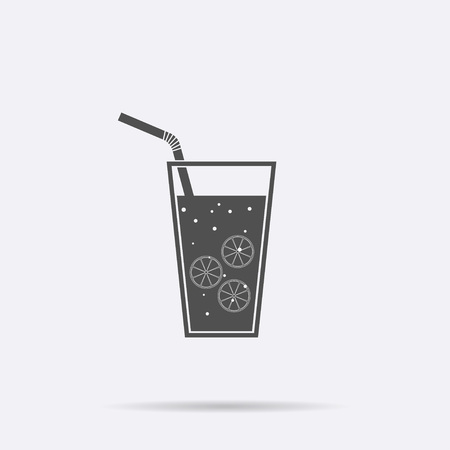 Lemonade icon isolated, detox vector. Modern simple flat drink sign. Business, internet concept. Trendy monochrome symbol for web site design. Logo illustration.