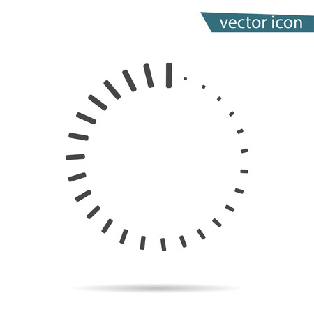 Gray Loading icon isolated on background. Modern flat pictogram, business, marketing, internet concept. Trendy Simple vector symbol for web site design or button to mobile app. Logo illustration. Illusztráció