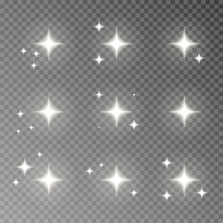 Twinkle sparkle vector isolated on transparent background. Flash light camera effect. Glare lens collection. Flare light decoration elements. Vector illustration. 版權商用圖片 - 115907377