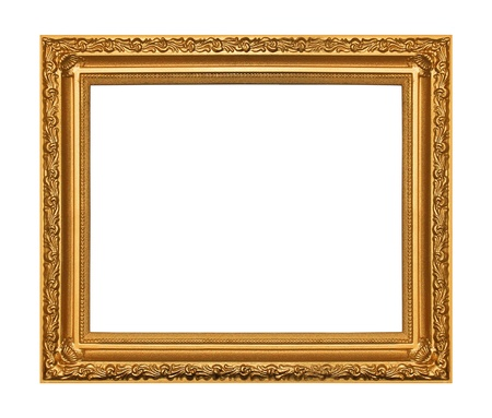 The antique gold frame on the white background Stock Photo - 17169727
