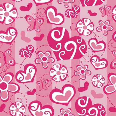 clip art draw: Love Seamless Background