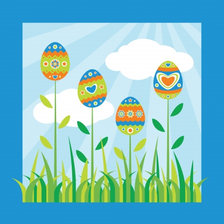 Colorful easter card Stock Vector - 18234551