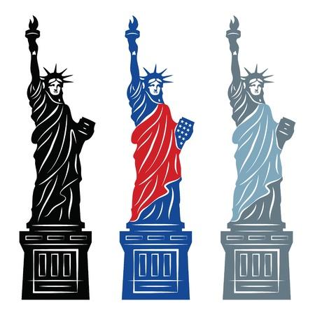 Freiheitsstatue in New York City Vektorgrafik