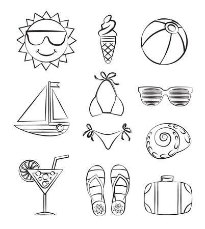 flops: Set of summer pattern