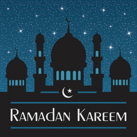 Ramadan Kareem  Abstract religious illustration  Vector