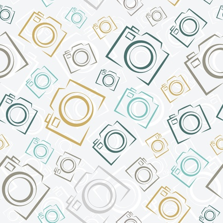 Photo cameras  Seamless pattern background  Illustration
