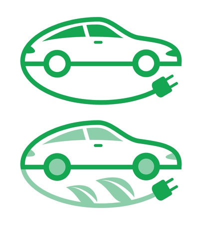 electric car: Vector illustration of electric car