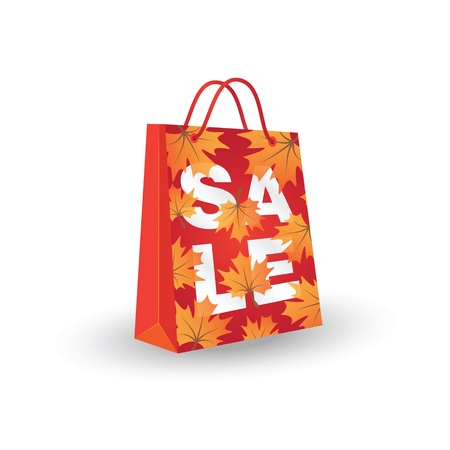 Autumn sale  Illustration with shopping bag
