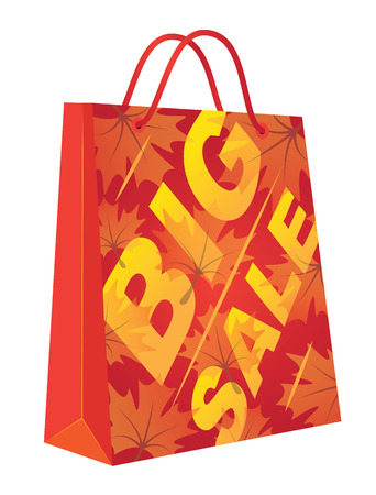 Autumn Big Sale  Illustration with shopping bag  Illustration