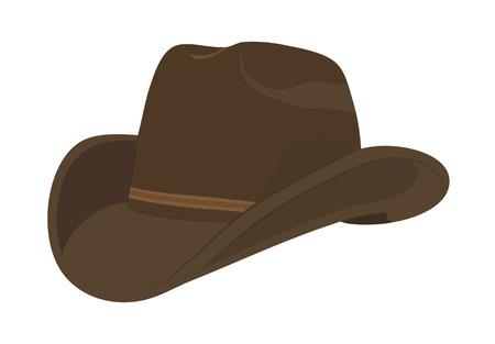 Brown cowboy hat  Vector illustration