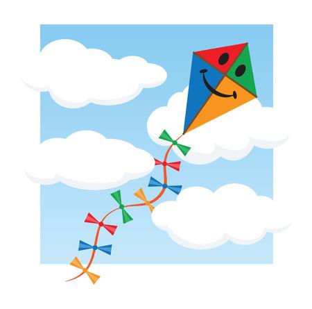 paper kite: Kite in the sky