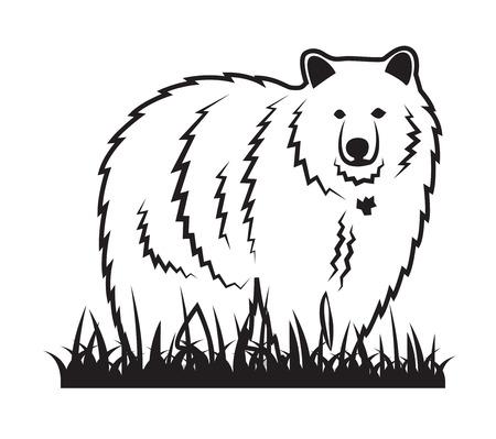 walking away: Bear on the grass