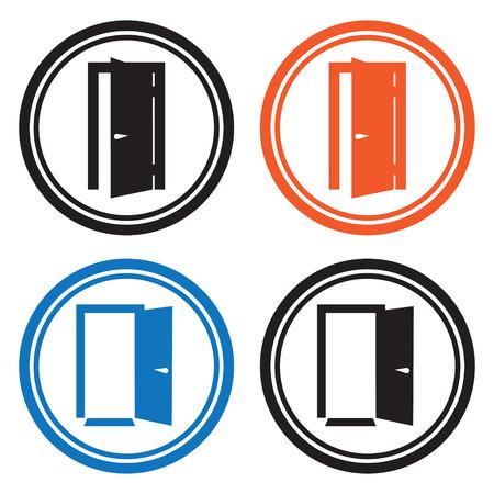 closed door: Door icons Illustration