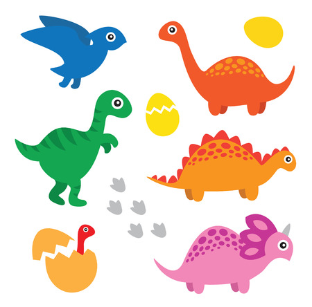 Dinosaur set Vector