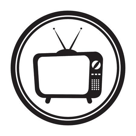 Icono de la Televisión Ilustración de vector