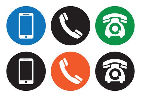 Iconos de teléfono Foto de archivo - 23660614