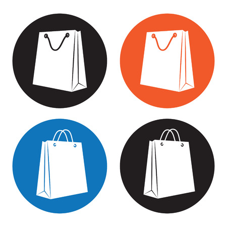 a bag with gifts: Shopping bag icons