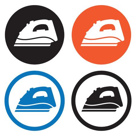 plancha de vapor: Iconos de vapor de hierro