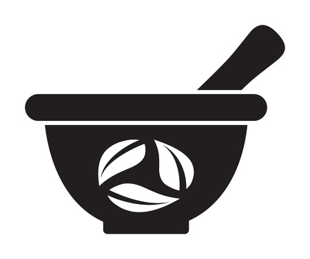 traditional chinese medicine: Mortar and pestle