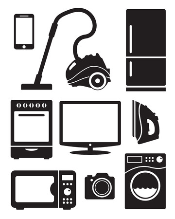 washing machine: Home appliances and electronics icons