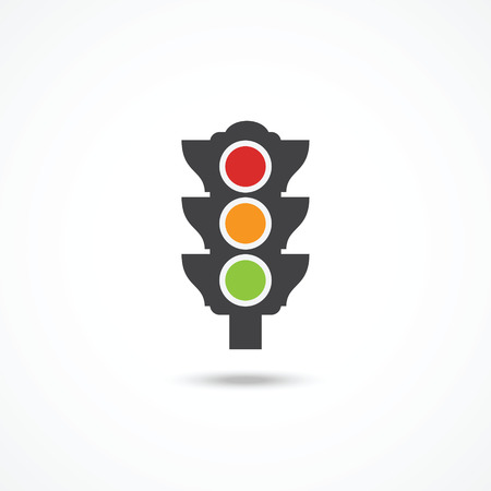 rules of the road: Traffic light icon
