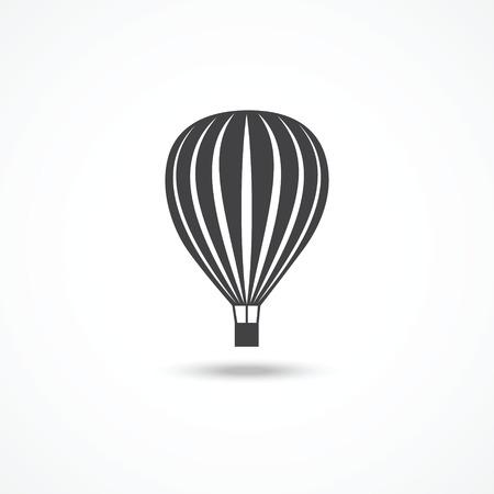 Hete lucht ballon pictogram