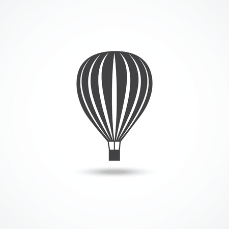 air sport: Hot air balloon icon