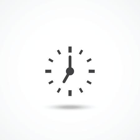 timepiece: Clock icon Illustration
