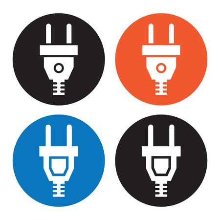 unplugged: Icono de enchufe el�ctrico