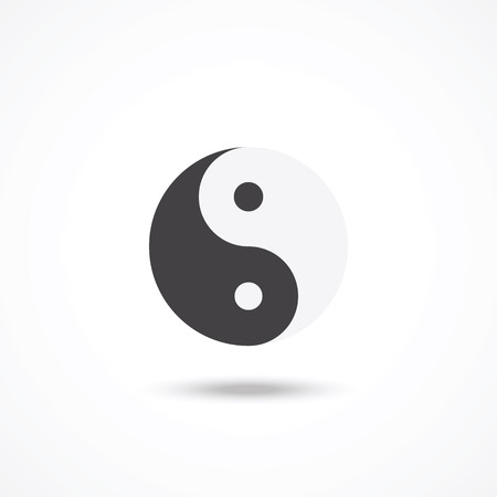 Ying yang symbool Stock Illustratie