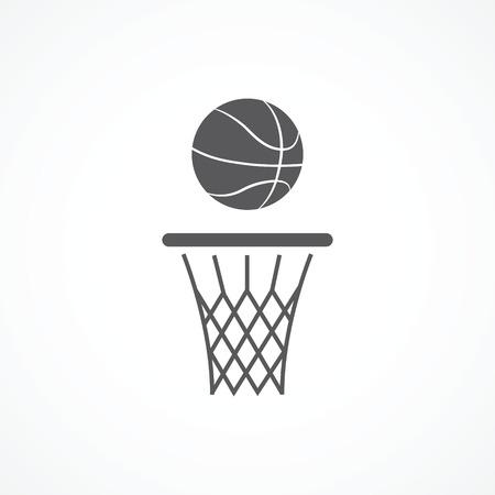 Basketbal pictogram Stock Illustratie