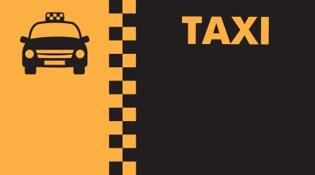 drivers: Business card for taxi drivers Illustration