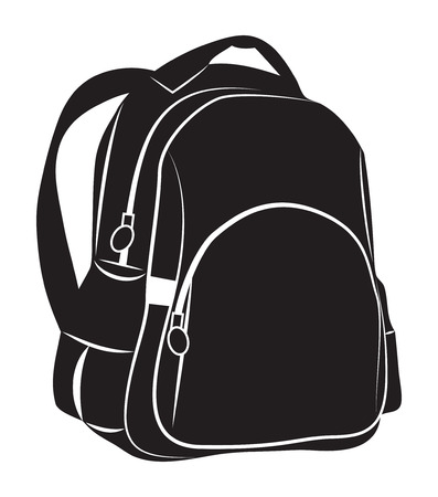 backpack: Backpack on white background