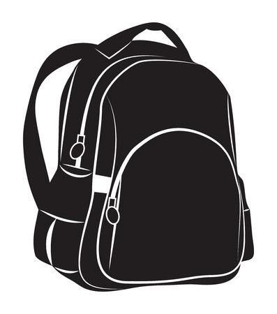 rucksack: Backpack on white background