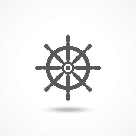 piloting: Rudder icon Illustration